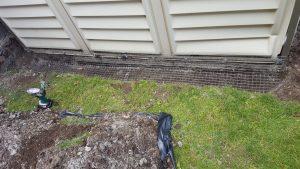 Skunk removal prevention burrowed mesh