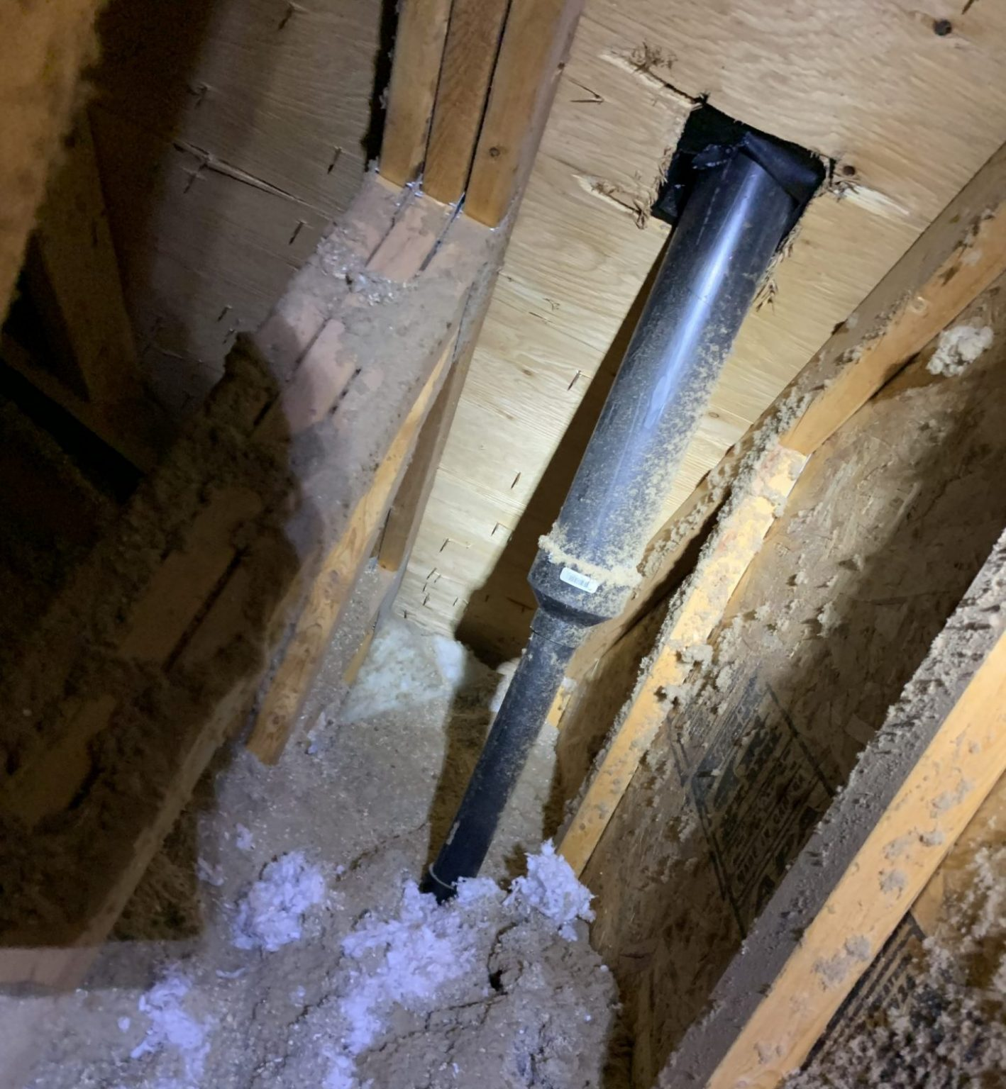 Roof Pipe In Attic
